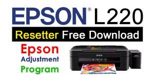 Epson L220 Resetter Adjustment Program