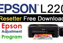 Photo of Epson L220 Resetter Adjustment Program Free Download