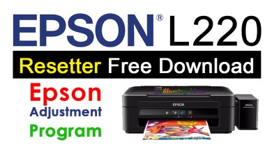 Epson L220 Resetter Adjustment Program