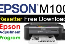 Epson M100 Resetter Adjustment Program Free Download