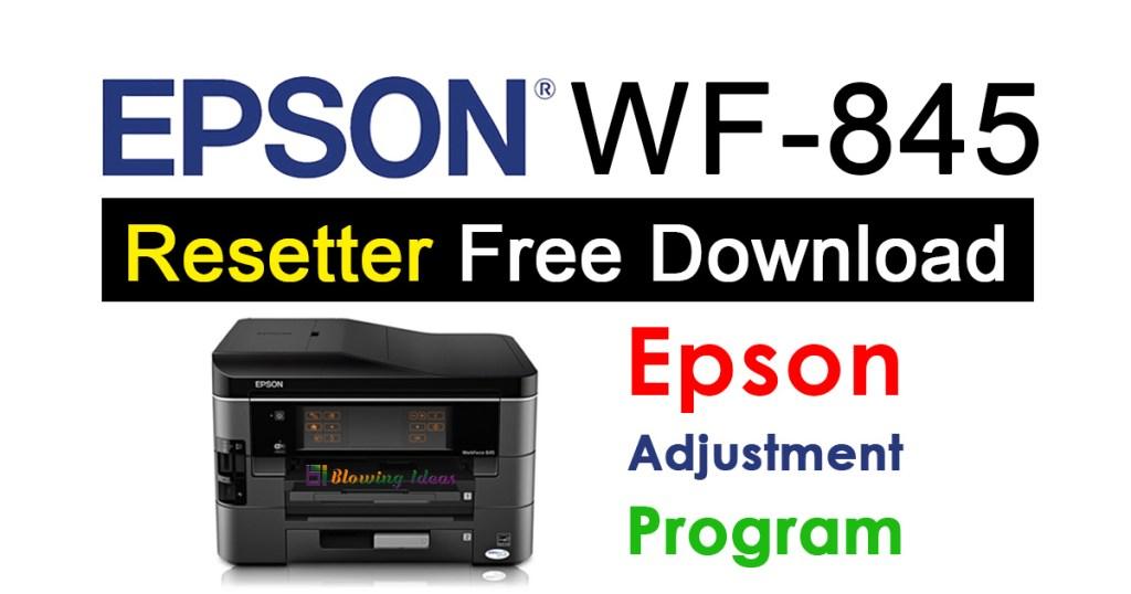 Epson WorkForce 845 Resetter Adjustment Program