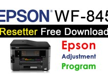 Epson WorkForce 845 Resetter Adjustment Program