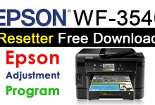Photo of Epson WorkForce WF-3540 Resetter Adjustment Program