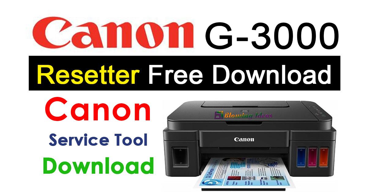 Canon G3000 Resetter