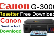 Photo of Canon G3000 Resetter Free Download WIC Resetter