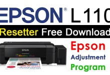 Epson L110 Resetter Adjustment Program Free Download