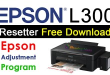 Epson L300 Resetter Adjustment Program Free Download