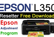 Epson L350 Resetter Adjustment Program Free Download