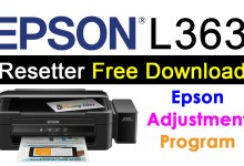 Epson L363 Resetter Adjustment Program Free Download