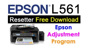 Epson L561 Resetter Adjustment Program Free Download