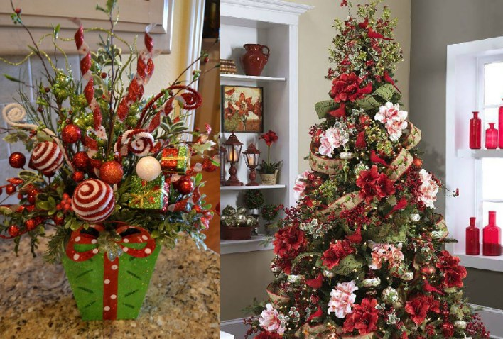 Christmas Decoration with Flowers