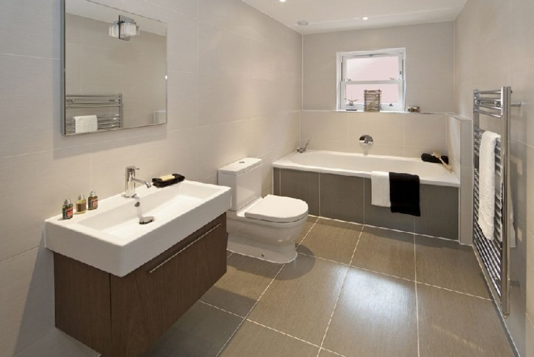Simple Bathroom Interior