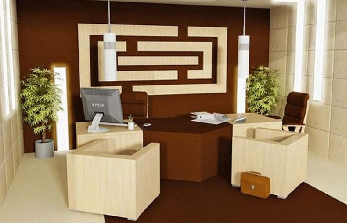 Stylish Office Design In Small Space