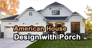 American House Design with Porch