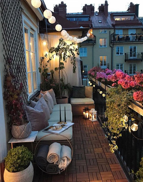 Cozy Balcony Design