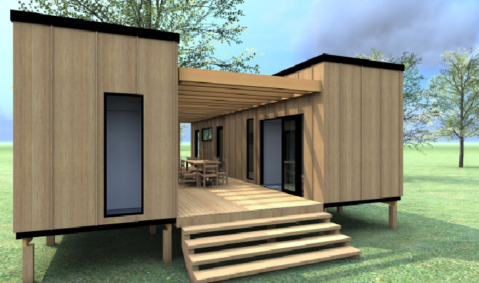 Home Design with Shipping Container