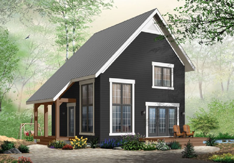 Saltbox Style Home