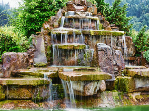 Stylish Waterfall Design