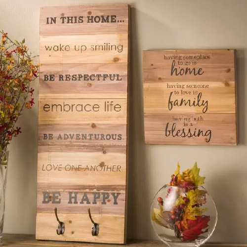 Wood Wall Hanging Planks