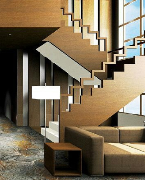 Wooden Stair Railing Design