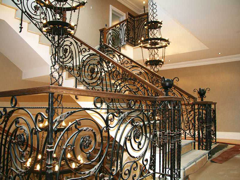 Amazing Iron Stair Railing