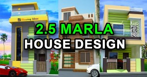 2.5 Marla House Design Ideas with 3D Elevation