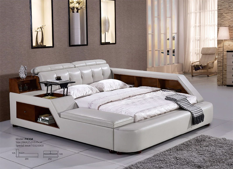 Stylish Modern Leather Bed Design Ideas
