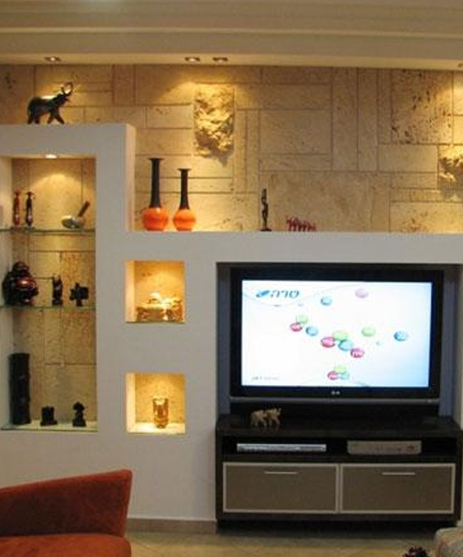 TV Lounge Wall Niches Design