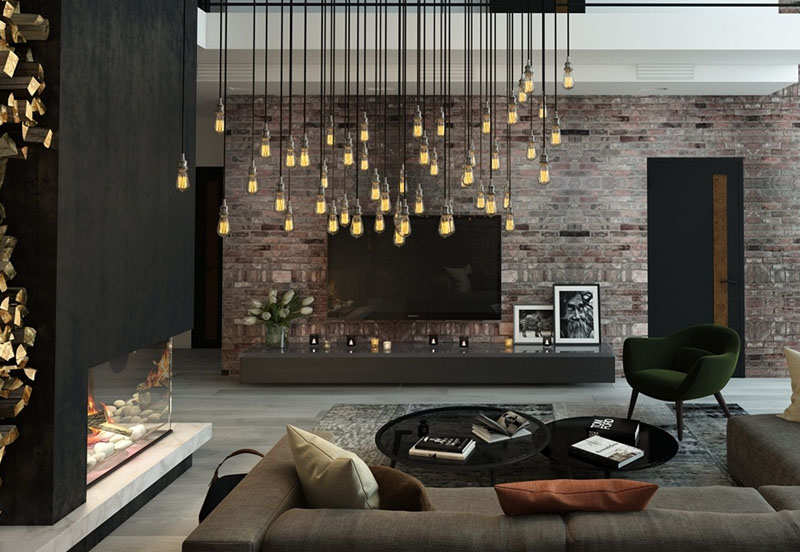 Living Room with Signature Lighting