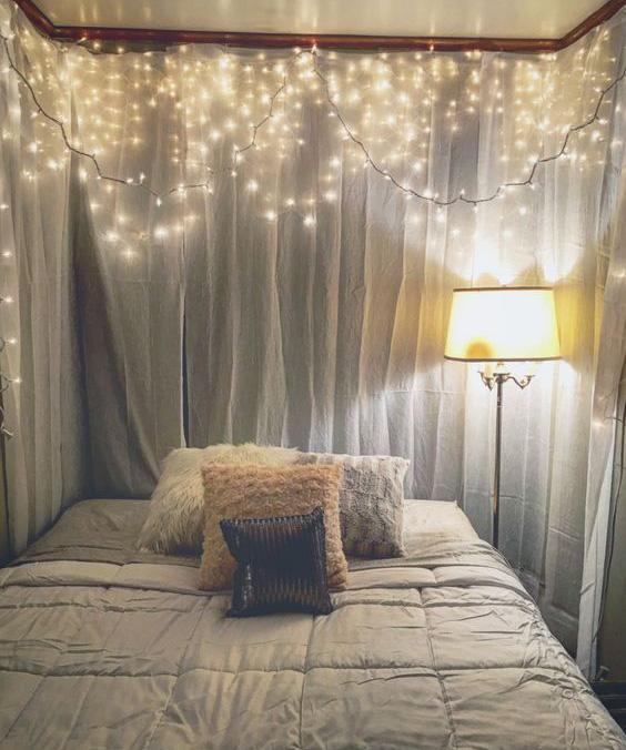 Window Curtain LED Light Bedroom