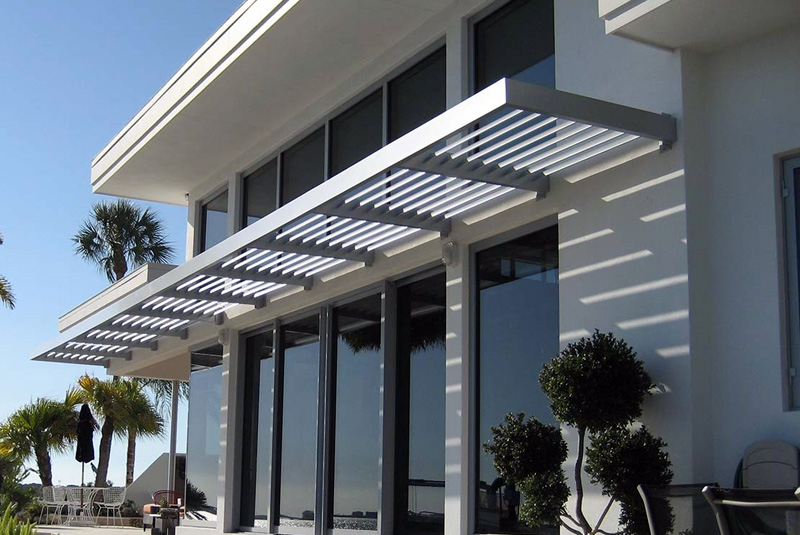 Aluminum Louvered Sunshade