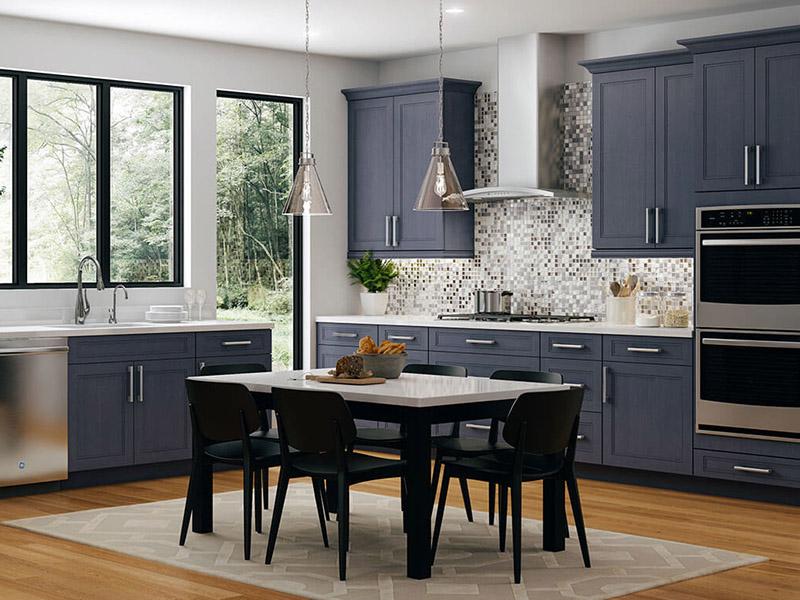 OceanBlue Colour Kitchen Cabinet