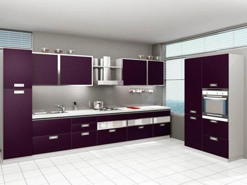 Purple Kitchen Cabinet 1