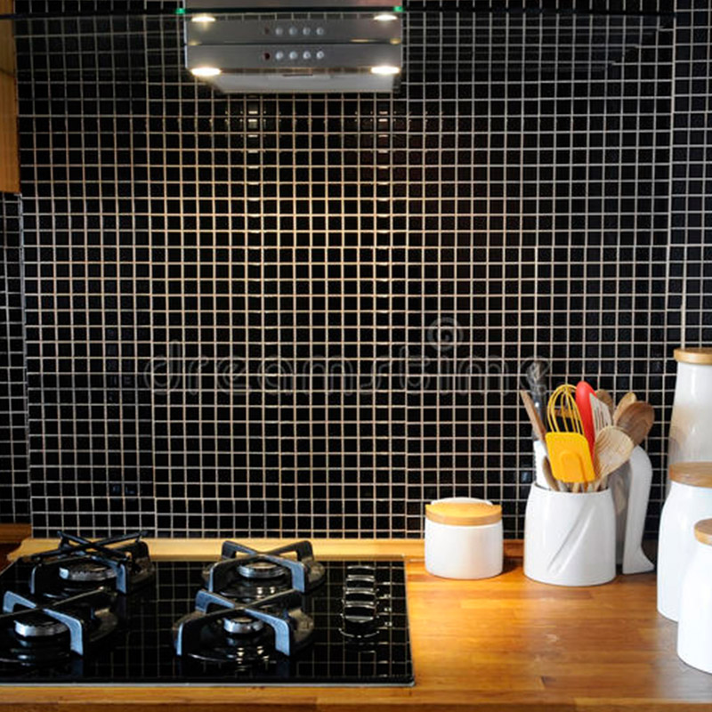 Small Black Tiles For Kitchen