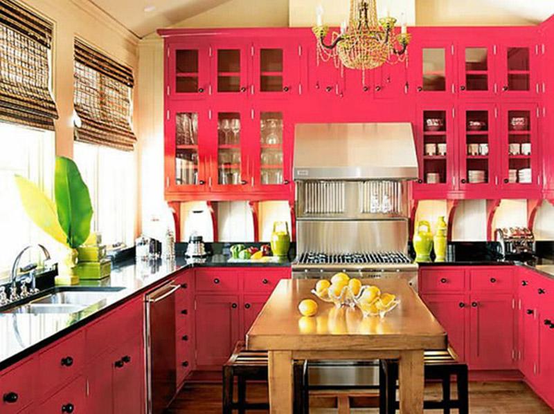 Bright Pink Kitchen Design