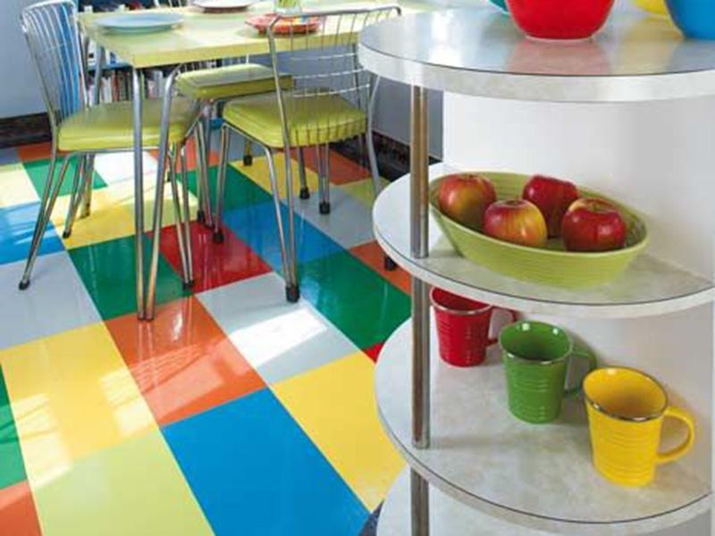 Colored Kitchen Floor Tiles