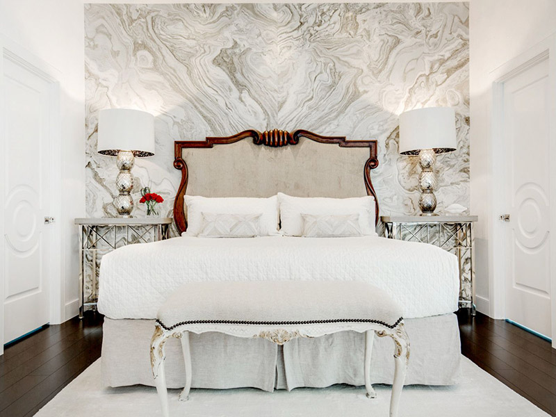 Colosso Marble Beautiful Wall Design Bedroom