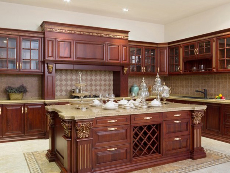 Cozy Style 2 Woody Kitchen Cabinet