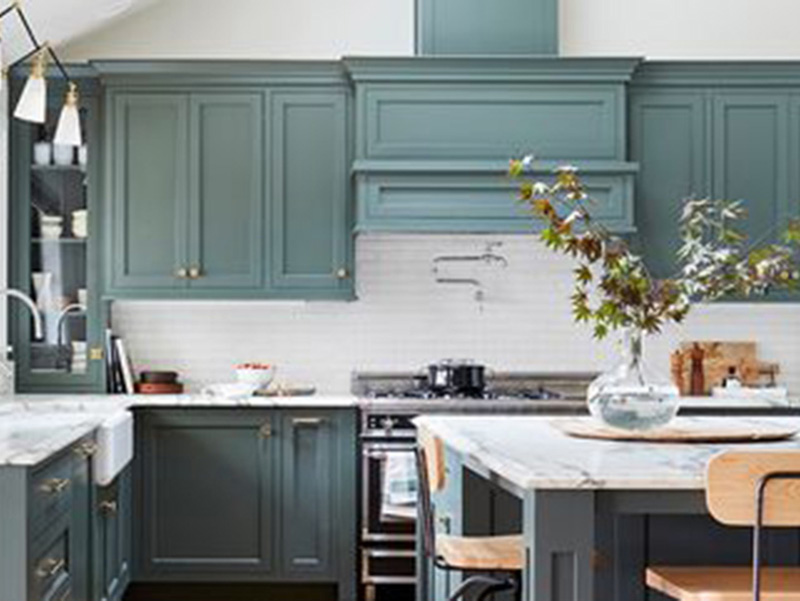 Green Kitchen Cabinet