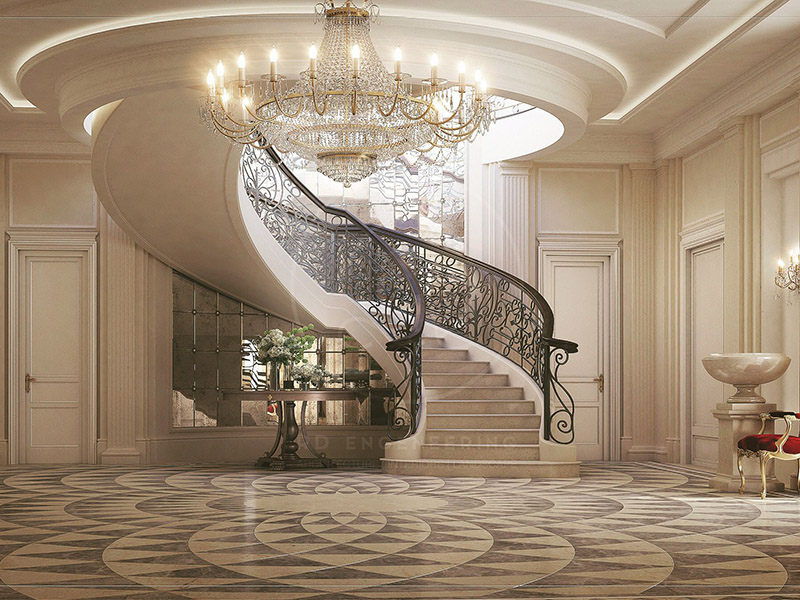Luxury Hall With Stairs