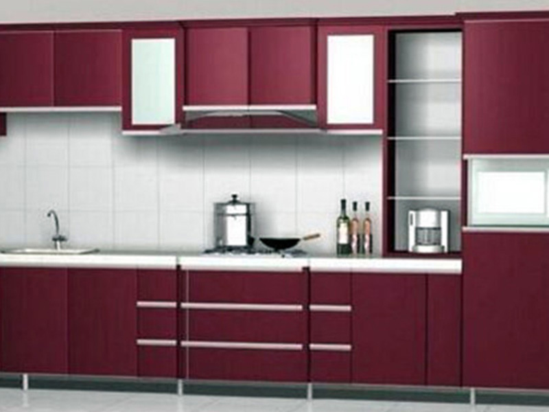 Maroon Color Cabnit Desighn