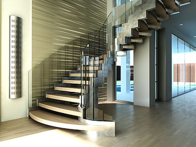 Massive Stair In Hall