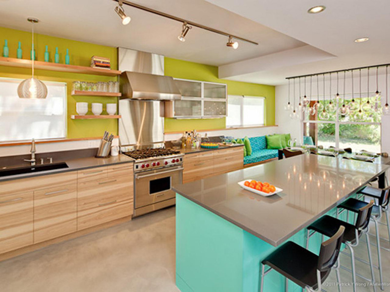 Multi Color Kitchen Cabinet