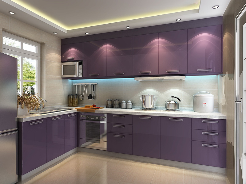 Purple Kitchen Cabinet
