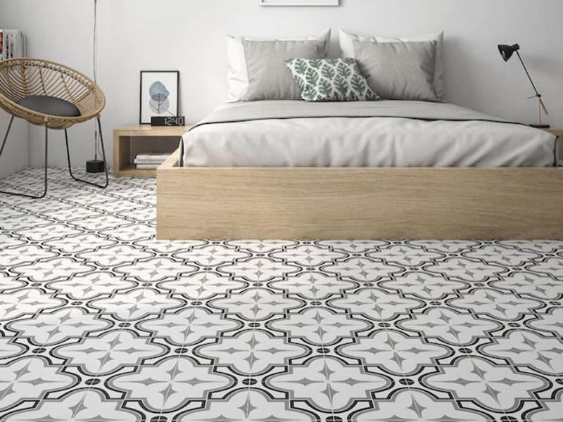Roca Tile Floor Bedroom