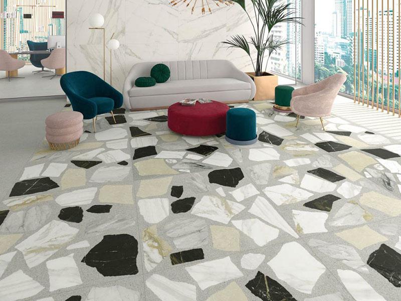 Spanish Floor Tiles Livingroom
