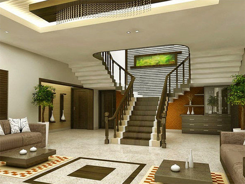 Stair In Hall African Style