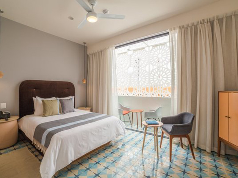 Two Color Bedroom Tiles