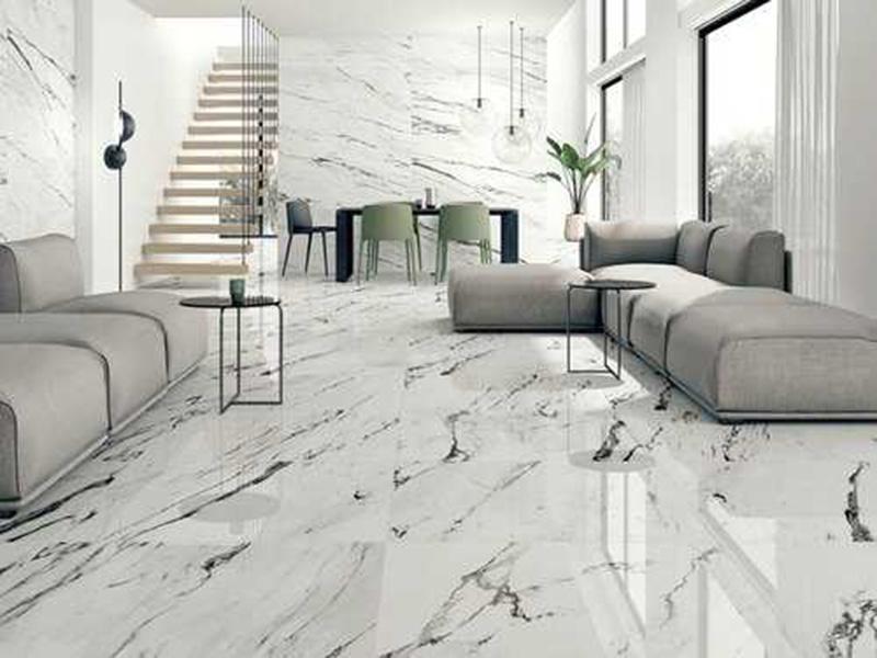 Vitrified Tiles In Living Room