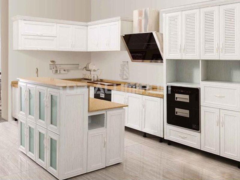 White Aluminium Kitchen Cabnit